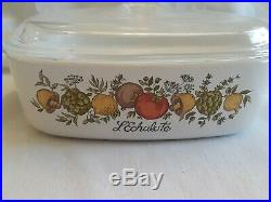 Rare SEE STAMP Vintage Corning Ware L'Echalote A-1-B Spice Of Life 1 Quart #10