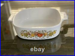 Rare SEE STAMP Vintage Corning Ware La Marjolaine A 2 B Spice Of Life Charity