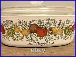 Rare SEE STAMP Vintage Corning Ware La Marjolaine A 2 B Spice Of Life WITH LID