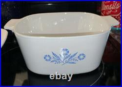 Rare Vintage 1970s cornflower Casserole Dish and Roaster