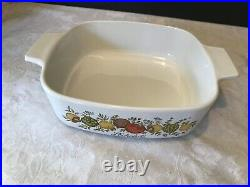 Rare Vintage A-1 -B. 1 quart Corning Ware Spice of life With Lid a7c LEchalote