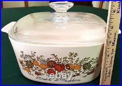 Rare Vintage CORNING WARE L'Echalote La Marjolaine Spice of Life 3 QT Glass Lid