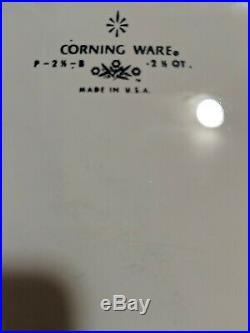 Rare! Vintage Corning Ware Blue Cornflower