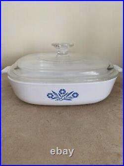 Rare Vintage Corning Ware Blue Cornflower Casserole Dish P-9-B Orig Lid