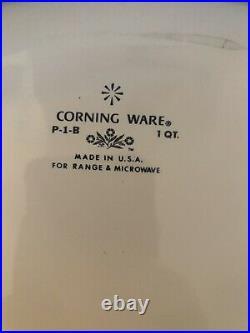 Rare Vintage Corning Ware Blue Cornflower P-1-B 1 qt Casserole no lid