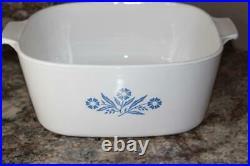 Rare Vintage Corning Ware Blue Cornflower p-84-b 4Qt