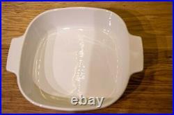 Rare Vintage Corning Ware Casserole Dish Blue Wild Flowers Print A-2-B 2-liter