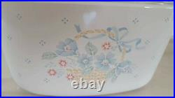 Rare Vintage Corning Ware Collectable 3L Pastel Floral AS NEW