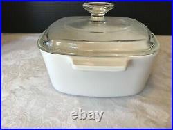 Rare Vintage Corning Ware Le Persil La Sauge A-1 1/2 -B 1 1/2 Qt casserole withLid