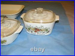 Rare, Vintage, Corning Ware, Microwaveable, Glass, White, Floral Pattern