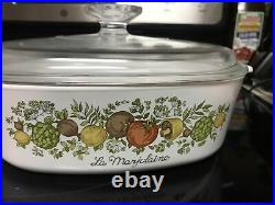 Rare Vintage Corning Ware Spice Of Life LMarjolaine Casserole Dish With Lid