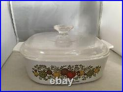 Rare Vintage Corning Ware Spice Of Life La Marjolaine 2 Qt Dish WithLid