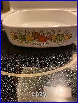 Rare Vintage Corning Ware Spice of Life L'Echalote A-1-B 1Qt Dish with Lid
