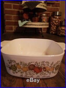 Rare Vintage L'Echalote La Sauge Pyrex 4 Quart Corning Ware no lid