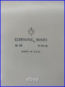 Rare vintage Corning Ware BLUE CORNFLOWER Covered Casserole P-10-8