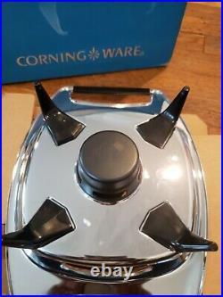 Rare vintage corning ware blue cornflower