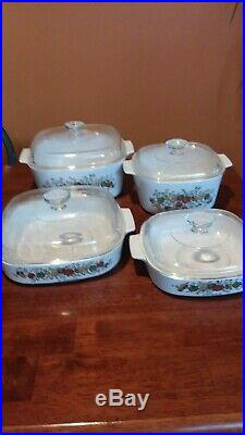 Spice of Life Corning Ware 4 piece with lids