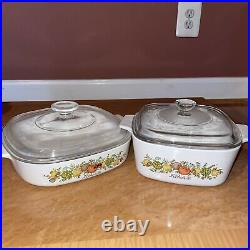 VINTAGE CORNING WARE SPICE OF LIFE 21 PIECE SET L'ECHALOTE Le ROMARIN 1970s-80's