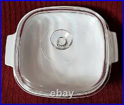 VINTAGE CORNING WARE SPICE OF LIFE L ECHALOTE CASSEROLE DISH A-10-B withPYREX LID