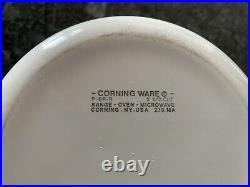VINTAGE Corning Ware 4 Pc Set Blue Cornflower