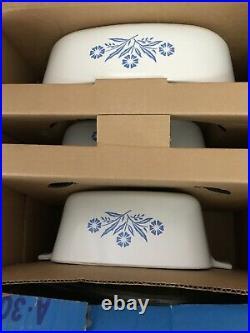 VINTAGENEW IN BOX Corniing Ware Blue Cornflower A-300 Art Of 6 Pieces