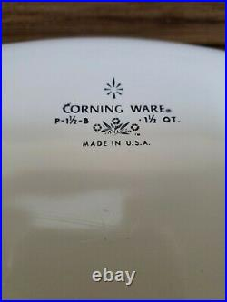 VTG 1970's Corning Ware Blue Cornflower Casserole p-1 1/2-B 1 1/2 QT. With lid