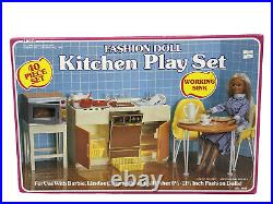 VTG Arco Barbie Fashion Doll Realistic Kitchen Diorama Corning Ware #7787, 1984