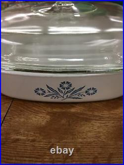 VTG Corning Ware CORNFLOWER BLUE 2 1/2 Qt. Casserole withLid A-12-C