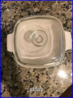Vintage 1 Quart Corning Ware Wildflower Casserole with Pyrex Lid (A-1-B)