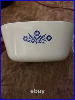 Vintage 1960/61 2nd Gen Corning Ware Blue Cornflower 2 1/2 Quart Casserole withlid