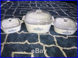 Vintage 1960's Corningware Blue Cornflower Double Boiler RARE