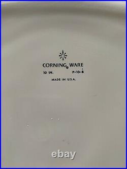Vintage 1960s Corning Ware Blue Cornflower Casserole Dish with Lid (P-10-B)