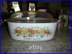 Vintage, 1970's Corningware, Rare, L'Echalote La Sauge, 4 quart casserole dish