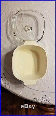 Vintage 1970s Corning Ware 2 Quart Qt Casserole Bowl/ Dish with Lid