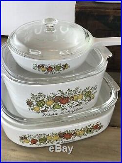 Vintage 1970s Corning Ware Pyrex 18 Piece Spice Of Life Dish Set