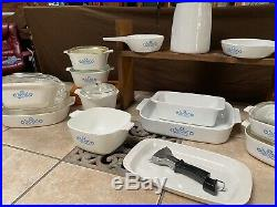 Vintage 1970s LARGE CorningWare Dish Blue Cornflower Collection