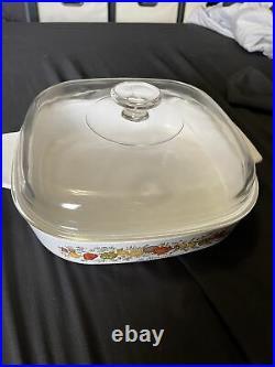 Vintage 1970s Rare Corning Ware Le Romarin Casserole Dish A10 B