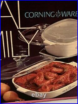 Vintage 1972 Corning Ware Royal Family Set New Old Stock Factory Sealed P-600-N