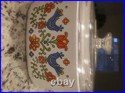 Vintage 1975 Blue Doves Corningware