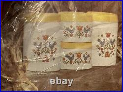Vintage 1975 Corning Ware Country Festival CANISTER Set NRFB by Cheinco