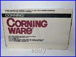 Vintage 1986 Corning Ware 6 Piece Set Shadow Iris A-300-333 NEW IN OPEN BOX