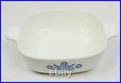 Vintage 60's Corning Ware Blue Cornflower 1Qt Quart Casserole Dish