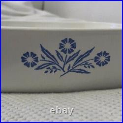 Vintage'60s Corning Ware 1 Qt Casserole Blue Cornflower P-1-B with lid P-7-C