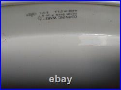 Vintage/Antique 5q. White Corning Ware (blue cornflower) Thin handle. UNIQUE