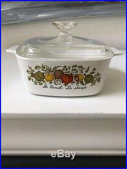 Vintage CORNING WARE A-1 1/2-B Spice of Life 1.5 Qt. Clean Slightly Used WithLid