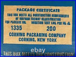Vintage CORNING WARE Blue Cornflower 3-Piece Set UNUSED In Box
