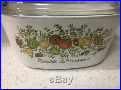 Vintage CORNING WARE Spice of Life 3L casserole pyrex lid LEchalote Marjolaine