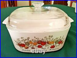 Vintage CORNING WARE Spice of Life Collection Pristine Condition with lids RARE