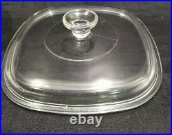 Vintage Corning 2 1/2 Qt. Casserole bowl WithLid Black Atomic