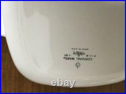 Vintage Corning Ware 1 Qt Blue Cornflower Casserole/Baking Dish withLid P-1-B USA